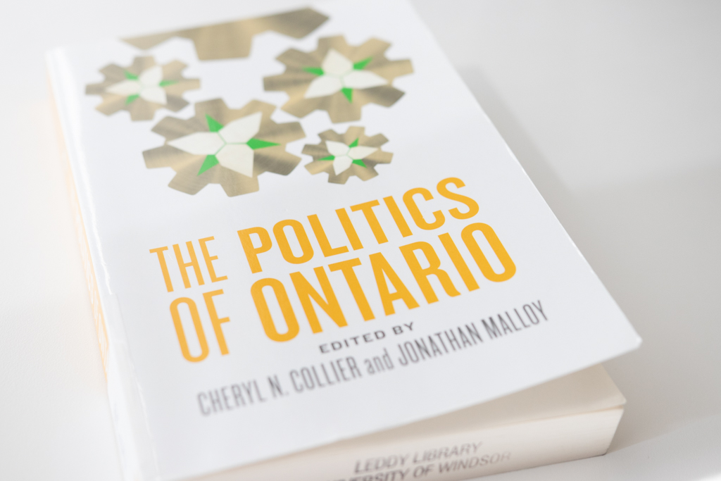 Dr. Collier's The Politics of Ontario is available at UWindsor's Leddy Library or for purchase at Chapters or on Amazon.