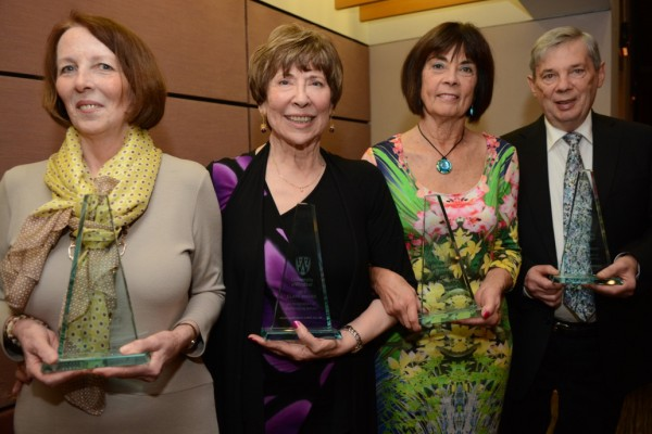 Clark Awards recipients: Sheila E. Wisdom, Diana Mady Kelly, Carolyne J. Rourke, O. Ont. and Dr. Wilfred Innerd.