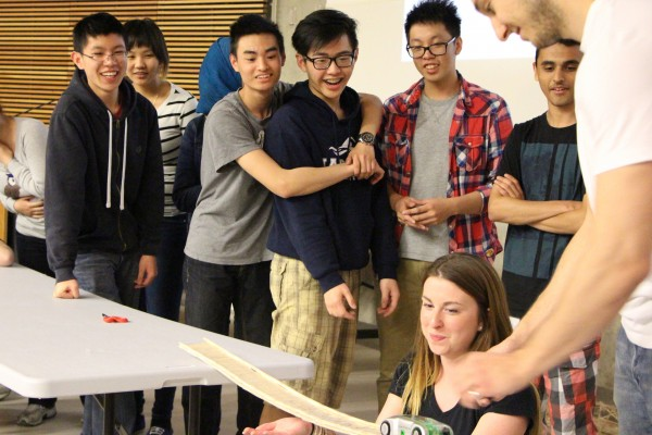 High school seniors put the bridges they built to the test, at the Centre for Engineering Innovation competition.