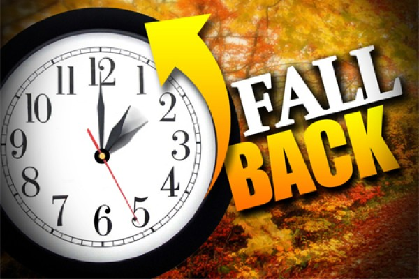 "clock bearing ""Fall Back"" slogan"