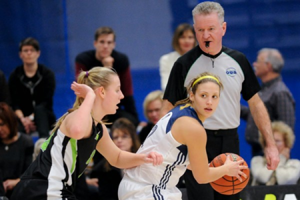 Guard Jocelyn LaRocque of the Lancer women's basketball team.