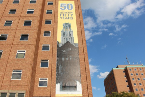 Banner on Mac Hall