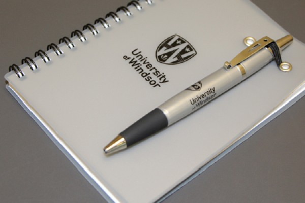 notebook and pen combination