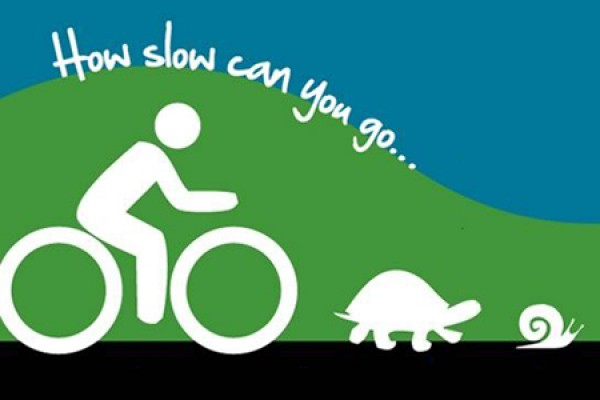 graphic of bicyclist trailing tortoise and snail