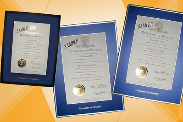 Diploma frames in a variety of wood and metal finishes