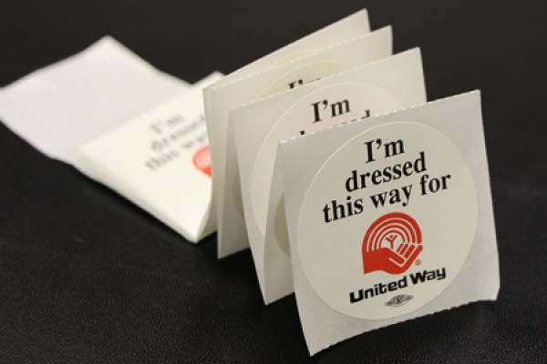 I'm dressed this way for Unityed Way stickers