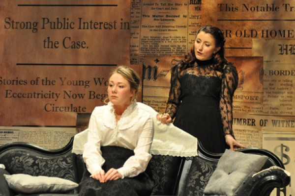 Breanna Maloney as Miss Lizzie and Vanessa Lancione as The Actress