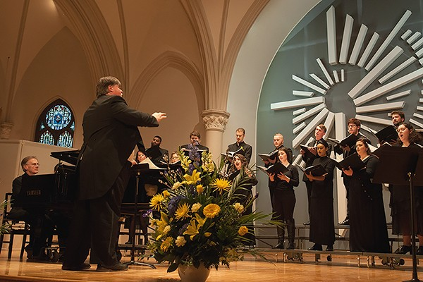 ruce J. G. Kotowich directs the UWindsor Chamber Choir.