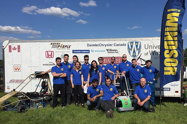 A team of UWindsor mechanical and electrical engineering students competed in the Electric Vehicle Grand Prix, last month in Indianapolis.