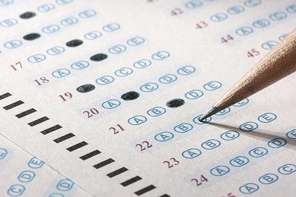 Scantron test sheet