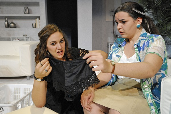 "Dani Zimmer as Matilde and Diana Ruffolo as Virginia in a scene from the University Players comedy ""The Clean House."""