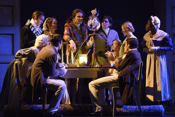 "The University Players' 2016 production of ""An Experiment with an Air Pump."""