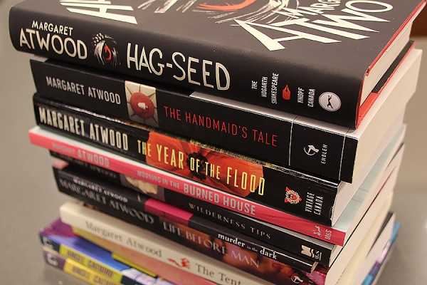selection of Margaret Atwood books