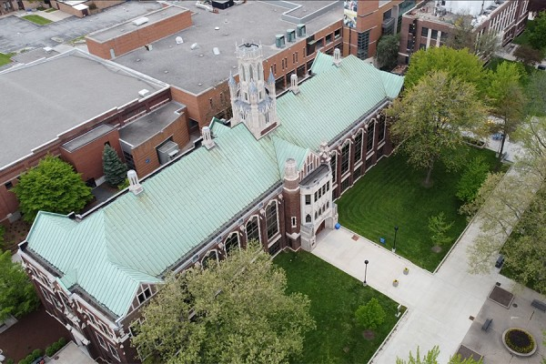 UWindsor campus as seen from above