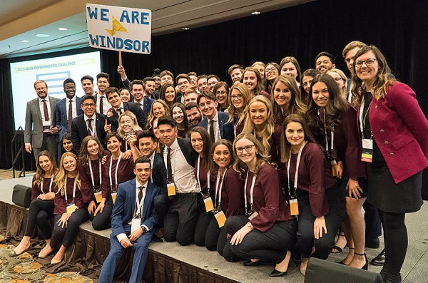 Enactus Windsor members