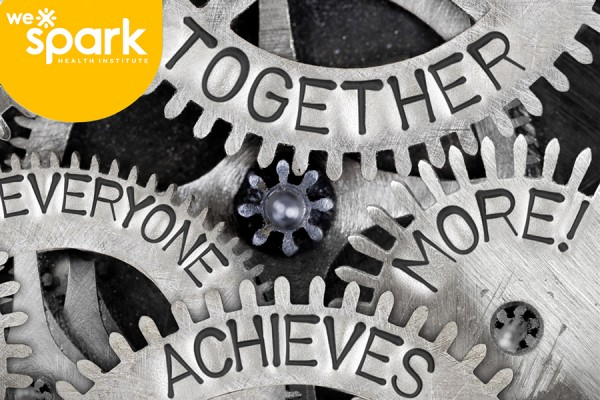 "Gears labelled ""Together everyone achieves more"""