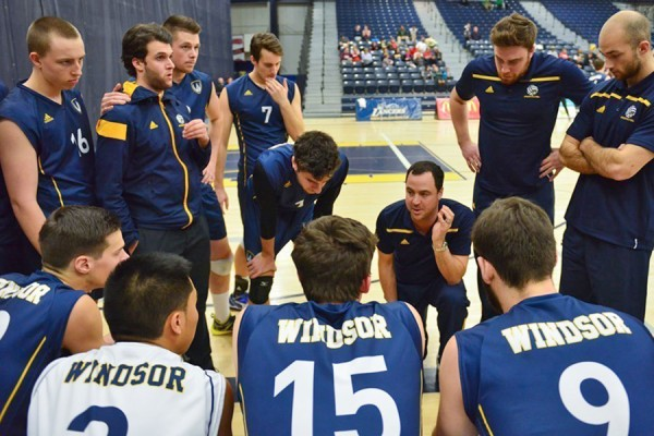 James Gravelle coaching volleyball players