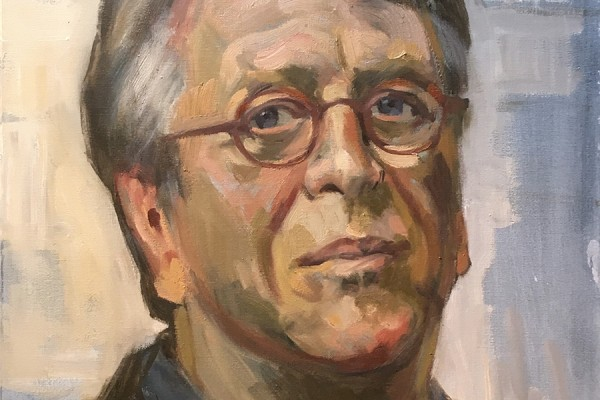 A portrait of Hans Hansen by painter Laurie McGaw.