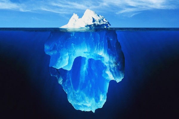 image of an iceberg from the cover of the textbook