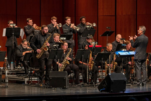 The University Jazz Ensemble directed by Bob Fazecash.