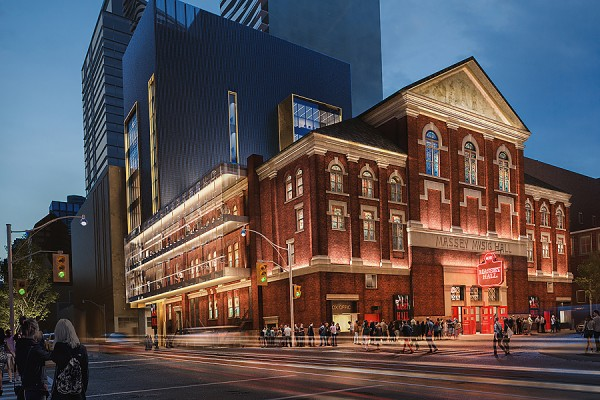 rendering of the Massey Music Hall