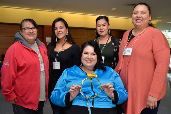 Keitha Riley, Destiny Soney, Michelle Nahdee, Stephanie Pangowish, Candy Palmater