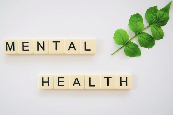 "letter tiles spelling ""mental health"""