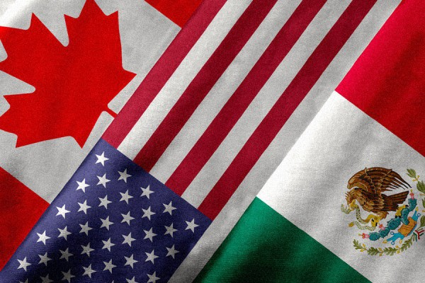 flags of Canada, U.S. and Mexico