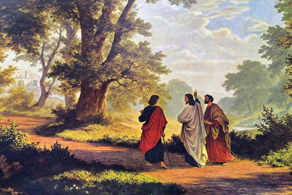 """The Road to Emmaus,"" 1877 painting by Robert Zund."
