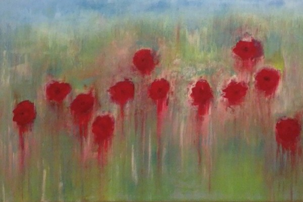 poppies painting by Katherine Roth