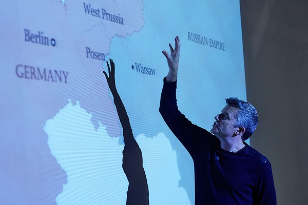 History professor Rob Nelson narrates over a map of eastern Europe