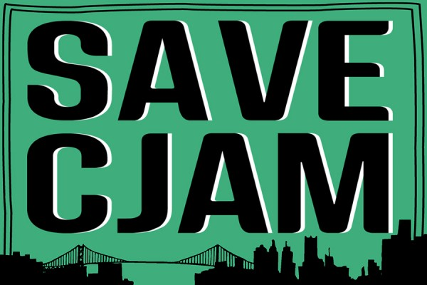 "graphic reading ""Save CJAM"""
