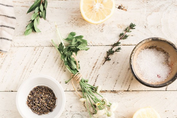 Herbs, spices, and other culinary ingredients.