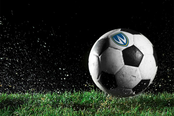 soccer ball bearing Lancer logo