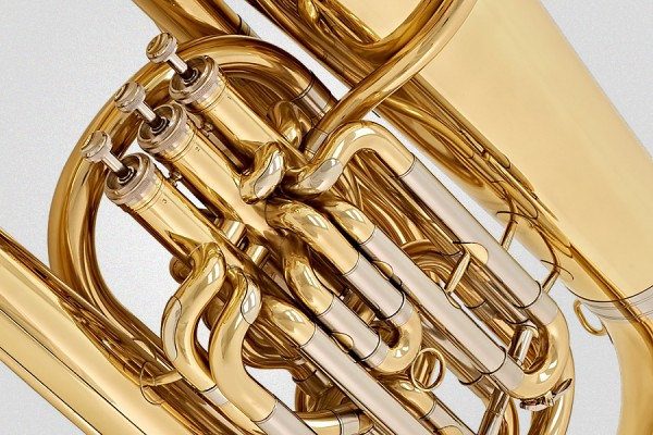 Close-up image of tuba