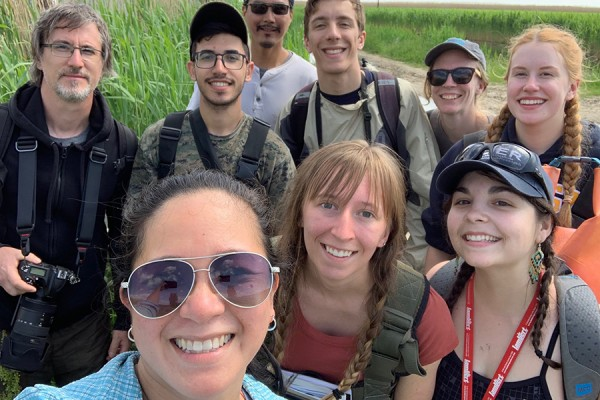 UWindsor students at the Walpole Island First Nation Territory