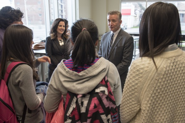CELD Students chatting with Provost Douglas Kneale during his visit earlier this week.