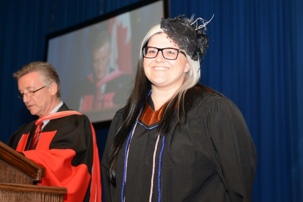 Chantelle Boismier received the 2015 President's Medal along with her BFA in visual arts during Convocation ceremonies Wednesday June 17.