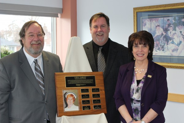 Rita DiBiase was presented with the Lois A. Fairley Nursing Award by the Fairley brothers. Photo credit: Aldo.
