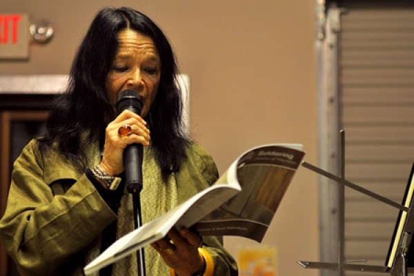 "Anne Waldman reads from one of her recent works. Once referred to by Allan Ginsberg as his ""spiritual wife,"" Waldman will read here on Thursday night and conduct a seminar on Friday morning."