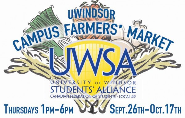 UWindsor Campus Farmers' Market to Launch on Sept. 26th