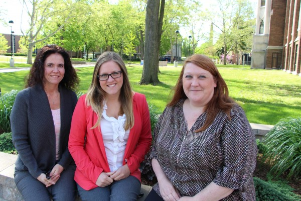 From left to right: Applied social psychology doctoral candidates, Twiladawn Stonefish , Ashlyne O'Neil  and Joan Craig were enlisted by the Higher Education Quality Council of Ontario to survey provincial colleges for the study, The Recruitment of Underr
