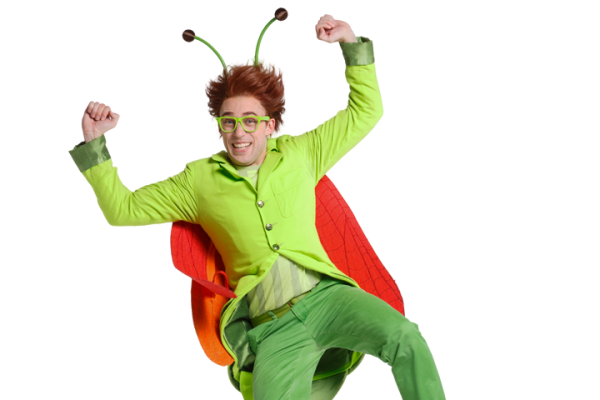 UWindsor alumnus Chris George plays Gisbert Grasshopper in the CBC Kid's TV show The Moblees.