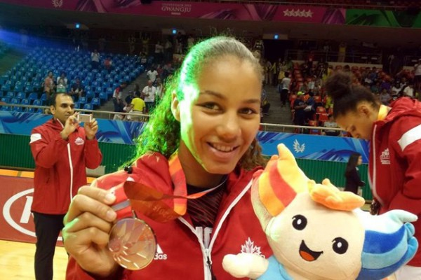 Alumna Korissa Williams leads Canada to FISU silver medal at the 28th Summer Universiade, the program's best result at the games.