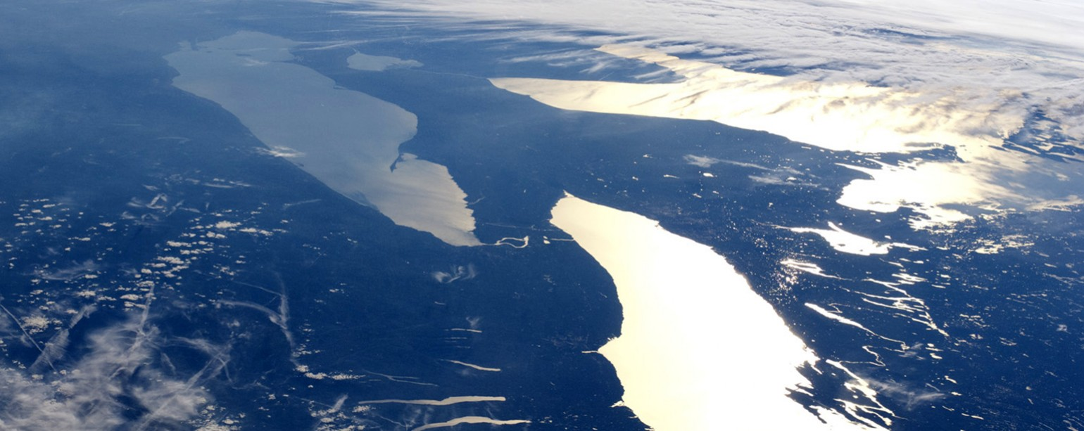 Great Lakes photographed from orbit